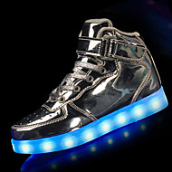 Boy's Athletic Shoes Winter Light Up Shoes Comfort PU Athletic Flat Heel Others LED Black Red White Silver Gold
