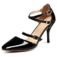 Women's Heels Spring Summer Fall Novelty D'Orsay & Two-Piece Patent Leather Dress Casual Party & Evening Stiletto Heel BuckleBlack Red