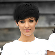Silky Straight Short Bob style Black Color Synthetic Wigs For Women