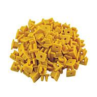 100個は、プラスチックリベット留め具13×12ミリメートルで、長方形プッシュDIA穴車のフェンダーを4mmの