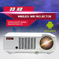 LED-33+02 WIFI LCD Projetor para Home Theater FWVGA (854x480) 2000 LED 4:3 16:9 16:10
