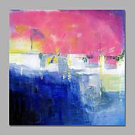 Ručně malované Abstraktní / Prázdninový olejomalby,Moderní / evropský styl Jeden panel Plátno Hang-malované olejomalba For Home dekorace