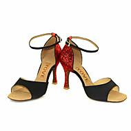 Dansesko(Sort Rød Sølv Guld) -Kan tilpasses-Personligt tilpassede hæle-Damer-Latin Salsa