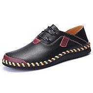 Men's Oxfords Spring Fall Comfort Bullock shoes Fabric Athletic Flat Heel Lace-up Black Brown Red