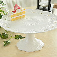 White Color Ceramic Tableware Tray Cake Pan Cupcake Stand Cupcake Dessert Dish Fruit Plate Tray Design is Random