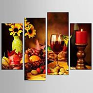 vászon Set Szabadidő Élelem Modern Realizmus,Négy elem Vászon Bármilyen alakú Print Art fali dekoráció For lakberendezési