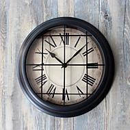 Moderne/Contemporain Rétro Vacances Inspiré Famille Dessin animé Horloge murale,Rond Nouveauté Acrylique Verre Métal 29