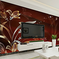 Cvijetan Art Deco 3D Pozadina Za kuću Suvremena Zidnih obloga , Canvas Materijal Ljepila potrebna Mural , Soba dekoracija ili zaštita za