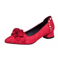 Homme-Décontracté-Noir Rouge Vert foncé-Gros Talon-Confort-Chaussures à Talons-Cachemire