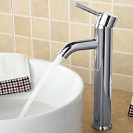 Zeitgenössisch Mittellage Breite spary with  Keramisches Ventil Einhand Ein Loch for  Chrom , Waschbecken Wasserhahn