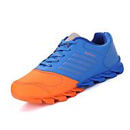 Herren-Sportschuhe-Sportlich-Stoff-Flacher Absatz-Komfort-Blau Rot Orange