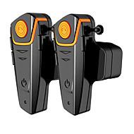 2db vízálló motorkerékpár moto kaputelefon fejhallgató FM rádióval sisak headset lovasok vezeték nélküli bluetooth sisak intercom