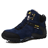 Men's Boots Comfort Snow Boots Suede Winter Casual Hiking Comfort Snow Boots Lace-up Flat Heel Black Blue Flat