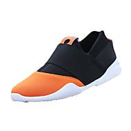 Herre-Tekstil-Flat hæl-Komfort-一脚蹬鞋、懒人鞋-Fritid-Svart Oransje Lysegrønn