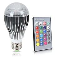 10W E26/E27 LED kulaté žárovky A70 1 COB 1000 lm R GB Stmívací Dálkové ovládání Senzor Ozdobné Voděodolné V 1 ks