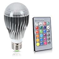 10W E26/E27 LED Λάμπες Σφαίρα A70 1 COB 1000 lm RGB Αδιάβροχο Με Ροοστάτη Τηλεχειριζόμενο Αισθητήρας Διακοσμητικό V 1 τμχ