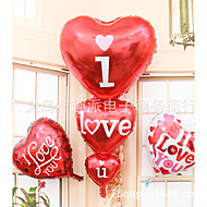 super store tre hjerte I heart you aluminium film ballon bryllup mødested dekoration balloner
