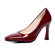 Feminino-Saltos-Outro-Salto Cone-Preto Azul Vermelho Prateado Vinho-Couro Ecológico-Casamento Social Casual