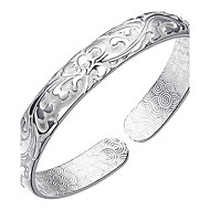 Bracelet Bangles S999 Sterling Silver Flower Fashion Birthday Gift Jewelry Gift Silver1pc