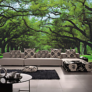 Bomen / Bladeren Behang voor thuis Modern Behangen , Canvas Materiaal lijm nodig Muurschildering , Kamer wandbekleding