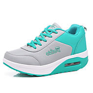 Sportssko-PU-Komfort-Dame-Blå Grøn Rosa Rose Lyserød-Udendørs-Flad hæl