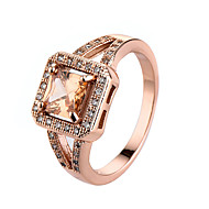 Lovely Rings For Women Rose Gold Plated Engagement Rings Sweet Christmas Gift Jewelry Wedding Ring 94210