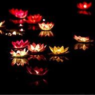 Valentinstag Lotus Tag Geschenk wünschen Lampe Votivkerze Geburtstagskerze Lampe Wasserlaterne Hochzeitsdekoration ramdon Farbe floating