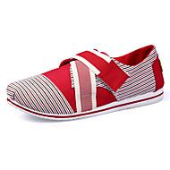 Dame-Lerret-Flat hæl Kilehæl-Komfort-一脚蹬鞋、懒人鞋-Friluft Fritid Sport-Svart Blå Gul Rosa Rød Gull Oransje