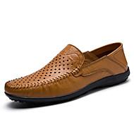 Homme Chaussures Cuir Printemps Eté Automne Confort Mocassins et Chaussons+D6148 Pour Athlétique Décontracté Noir Bleu de minuit Brun