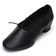 Obyčejné-Dámské-Taneční boty-Balet-Koženka-Nízký podpatek-Černá Růžová Červená
