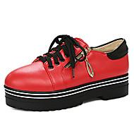 נשים-נעלי ספורט-דמוי עור-נוחות רצועת קרסול-לבן שחור אדום-שטח יומיומי ספורט-מטפסים