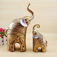 1PC European Elephant Auspicious Picture Like Thailand Exotic Antique Old Mother Elephant.