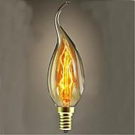 25 wattů c35l wolfram žárovka svíčka natahovací ocas svíčka evropském stylu (Smíšený Barva)