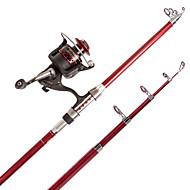 חכת ספינינג חכת  Telespin Iso Rod חכה גלילי דיג+ חכות דיג חכת ספינינג FRP מתכת פחמית 210 M דיג בים דייג במים מתוקים דיג כלליגלילי דיג+