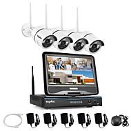 sannce®2.4g 10.1 lcd 4ch HDワイヤレス720p無線LAN 1500tvl /屋外IRカットIPカメラセキュリティシステム