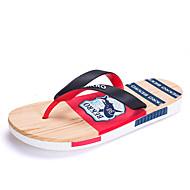 Herren-Slippers & Flip-Flops-Outddor Lässig-Gummi Kunststoff-Flacher Absatz-Komfort-Blau Rot Grau