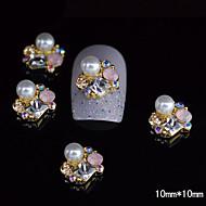 10st goud unieke 3d legering strass nagel diy nail art decoratie