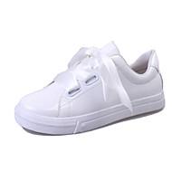 Sportssko-PU-Komfort-Dame-Hvid-Udendørs-Flad hæl