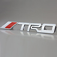 TRD krom racing emblem bilens bagagerum badge 3d metal mærkat decal