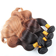 4 bundles 12-26 inch Body Wave Brazilian Ombre Hair Weaves Color 1b/27#
