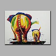 Pintados à mão Abstrato Animal Horizontal,Moderno 1 Painel Tela Pintura a Óleo For Decoração para casa