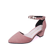Women's Heels Spring Summer Fall Club Shoes PU Office & Career Casual Work & Safety Chunky Heel Pearl Black Pink Army Green Khaki Walking