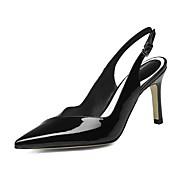 נשים-עקבים-עור פטנט-אחר-שחור ורוד-משרד ועבודה שמלה יומיומי מסיבה וערב-עקב סטילטו
