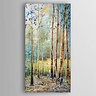 Håndmalte Landskap Abstrakte Landskap Vertikal,Moderne Et Panel Lerret Hang malte oljemaleri For Hjem Dekor