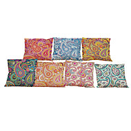 Set of 7 European style Retro Floral pattern  Linen Pillowcase Sofa Home Decor Cushion Cover