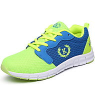 לבנים-נעלי אתלטיקה-טול-נוחות-שחור ירוק אלמוג-שטח יומיומי ספורט-עקב שטוח