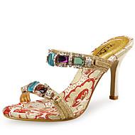 Mujer-Tacón Stiletto-Zapatos del club-Sandalias-Boda Vestido Fiesta y Noche-Sintético Purpurina-Amarillo
