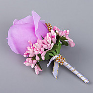 Elegant Rose Wedding/Party Boutonniere with Rhinestone for the Groomsman and Bridesmaid