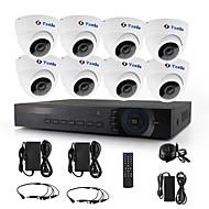 yanse®8本ドームCCTVカメラAHDのdvrキット720pのIRセキュリティシステム1200tvl 3.6ミリメートル632ワット1.0mp
