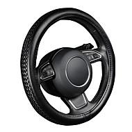autoyouth PU lær rattet svart Litchi mønster med antisklipyntebånd stil m size fits 38cm / 15 diameter